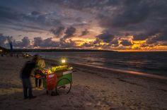 Sunset in Jimbaran, Bali, Indonesia