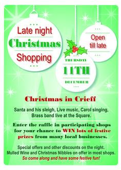 Late night Christmas Shopping in Crieff.  TUIB :)