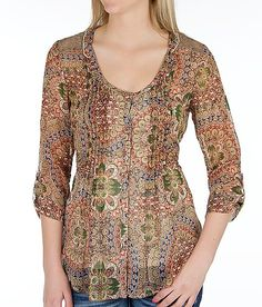'BKE Chiffon Shirt' #buckle #fashion www.buckle.com