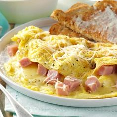 Ham and Swiss Omelet Recipe from Taste of Home