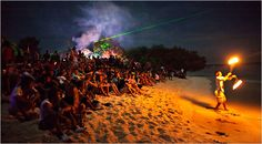 A full moon party at a beach bar in Gili Trawangan, once a fisherman's settlement. It is now the liveliest of the Gili Islands, an archipelago in Indonesia's Bali Sea just off the coast of Lombok