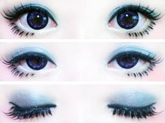 ♥.♥Blue Gyaru Eye Makeup