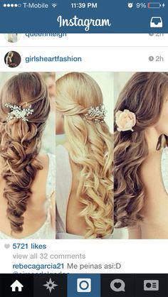 Prom hair style cut accessories