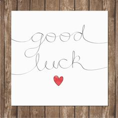 Items similar to Good Luck Card - Recycled Card - Blank Card - Handmade Card on Etsy Good Luck For Exams, Good Luck Cards, Good Luck Quotes, Hand Lettering For Beginners, Easy Valentine Crafts, Calligraphy Cards, Handmade Card Making, Holiday Greeting Cards, Mothers Day Cards