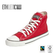 Ethletic Fair Trainer Hi Cut Classic are fairly produced (FLO - certified), from Fairtrade sustainable raw materials  and 100% vegan.
