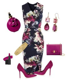 Dsquared2 magenta dress long