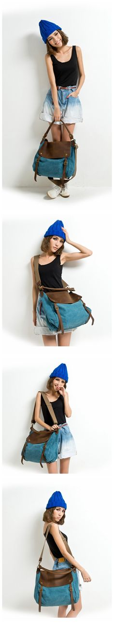 HIGH QUALITY CANVAS LEATHER TOTE BAG SHOPPING BAG MESSENGER BAG BRIEFCASE