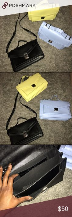 Handbag Bundle 👜 Practically brand new! Yellow is nwt, the baby blue one worn once! And the black one is gently used. Forever 21 Bags Crossbody Bags
