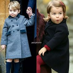 George and Charlotte today! Best Christmas ever! Finally we can see them again❤