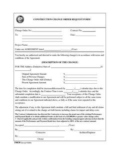 Change Order Form Images