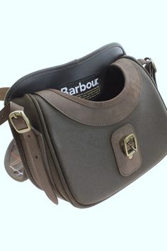 Barbour Cartridge Bag in Wax Leather UBA0001OL71 from Smyths Country Sports