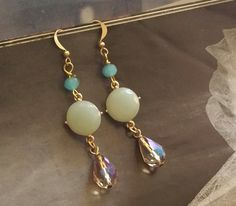 Filigree Earrings/Romance/Peach And Cream by TheBohemianGypsy