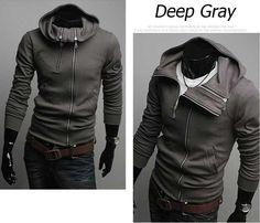 Free shipping Stylish mens casual cotton hooded coat winter clothing men's coats hoody jackets men casual wear M L XL XXL C014