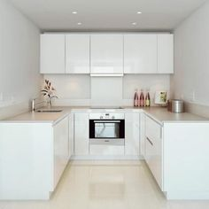 Love looking for great white kitchen decorating ideas? Check out these gallery of white kitchen ideas. Tag: White Kitchen Cabinets, Scandinavian, Small White Kitchen with Island, White Kitchen White Witchen Countertops New Kitchen, Kitchen Decor, Kitchen White, Kitchen Ideas, Kitchen Small, Kitchen Modern, Modern Ovens, Modern Room, Modern Small Kitchen Design