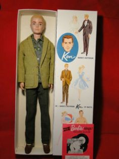 ORIGINAL MATTEL KEN DOLL BARBIE'S BOYFRIEND #750 ORIG BOX FUZZY HEAD.