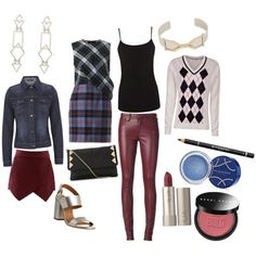 Flamboyant gamine, deep winter coloring, brick body shape by mary-86 on Polyvore featuring beauty, Elizabeth Arden, Bobbi Brown Cosmetics, Ilia, Givenchy, Pamela Love, Accessorize, McQ by Alexander McQueen, Green Lamb and Warehouse