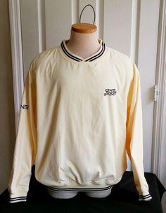 Ping Apparel Men's Golf Jacket Large Pullover Pepsi Logo Butter Style #P 810 YE #Ping
