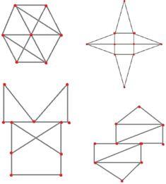(0.-9.lk) Yhdellä kosketuksella piirto « OuLUMA – Pohjois-Suomen LUMA-toiminnan foorumi - Tehtävänä on piirtää kuvio kynällä yhdellä piirrolla, eli nostamatta kynää paperista ja menemättä samaa viivaa pitkin kahdesti. Ainoastaan punaisen pisteen kohdalla saa vaihtaa suuntaa. Math Problem Solving, Math Problems, Maths, Symbols, Peace, Chart, Draw, School, To Draw