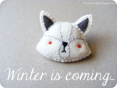DIY Felt Direwolf - FREE Pattern and Tutorial