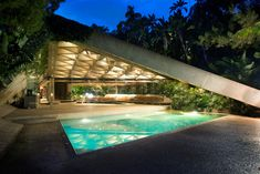 Sheats Goldstein Residence, Beverly Hills, CA, designed by John Lautner.  Originally built in 1963 for Mr. and Mrs. Paul Sheats, the home is now owned by James Goldstein, who worked with Lautner for over two decades before his death to restore and renovate the property.