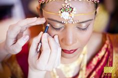 Incredible makeup for the bride as she gets ready for her wedding ceremony at the Garden - photo by #BethInsalaco