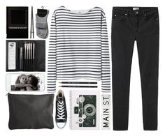 """""""DAY WEAR - SO I'M SUPPOSED TO BUY HER SOME NOODLES....?"""" by pretty-basic ❤ liked on Polyvore featuring Pieces, Wood Wood, Converse, Sephora Collection, Acne Studios, FOSSIL, prettybasic, milestone and 16K"""