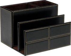 Staples® Mission Faux Leather Desk Organizer