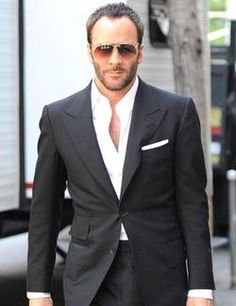 The one I like most.  Tom Ford, charcoal, peak lapel