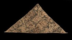 Woman's triangular forehead cloth        English, 1575–1625