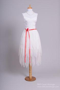 1970 Boho Handkerchief Vintage Wedding Dress : Mill Crest Vintage