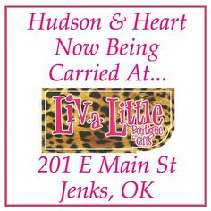 Hudson and Heart products can now be found @liv_a_little_boutique in Jenks! We are thrilled to be in such a cute shop and we absolutely love the owner and staff! Please be sure to check out our products along with all of the adorable items they have!  #tulsa #jenks #tulsaoklahoma #boutique #shoplocal #shopsmall #local #yay #livalittleboutique #iloveit #gift #gifts #cuteshop by hudsonandheartco