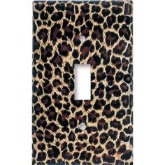 Leopard Print Switch Plate - Zoey's Room