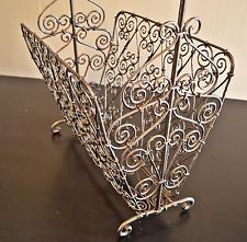Ornate Victorian Era Metal Magazine/Newspaper Rack Metal Magazine, Magazine Rack, Victorian Era, Victorian Fashion, Toast Rack, White China, Newspaper, Detail, Antiques