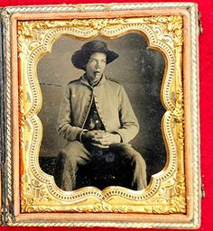 Civil War Confederate Tennessee Sixth Plate Tintype Image in Original Hard Case | eBay