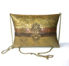 Antique Brass and Copper Pillow Purse Bag by MargsMostlyVintage, $46.00
