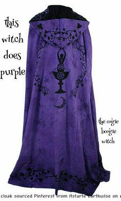 Cloaks Pagan Wicca Witch:  Purple #Cloak.
