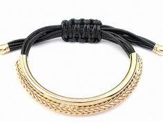 Armbänder - TAU  geometrisches Flecht Armband Ethno Bogen gold - ein Designerstück von SpreeGold-Berlin bei DaWanda