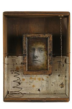 ⌼ Artistic Assemblages ⌼ Mixed Media & Collage Art - Kass Copeland - shadow box art assemblage