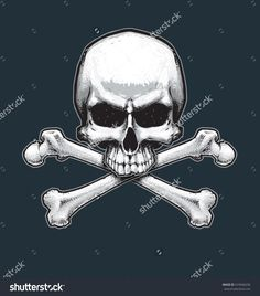 Vector illustration of the pirate flag sign, skull and crossbones. Skull, bones, drop shadow and Background neatly on separate well defined layers and groups. Flag Signs, Drop Shadow, Skull And Crossbones, Separate, Pirates, Layers, Royalty Free Stock Photos, Stock Illustrations, Pictures
