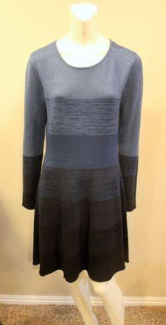 Eliza-J-Medium-Blue-Striped-Long-Sleeve-Sweater-Dress