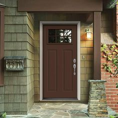 Masonite Craftsman 6 Lite Primed Smooth Fiberglass Entry Door with