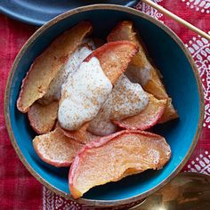 Spiced Apple Wedges With Yogurt #supercarb #healthyrecipes