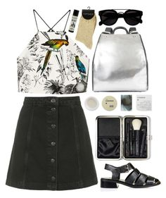 """""""Untitled #383"""" by raissa-cristabel ❤ liked on Polyvore featuring Topshop, Milly, Ruxx, Korres and Bobbi Brown Cosmetics"""