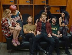 """5sos and hey Violet. I really like hey Violet, I started listening to them after I saw them open for 5sos. My fav song is """"smash into you"""" i"""