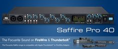 I use the Saffire Pro 40 as a second bank of 8 mic preamps for recording. I link it to my Apollo via ADAT. Works amazingly well, the mic preamps sound great and the configuration couldn't be easier. Sounds Great, Apollo, Home Projects, Audio, David, Link, House Projects, Apollo Program