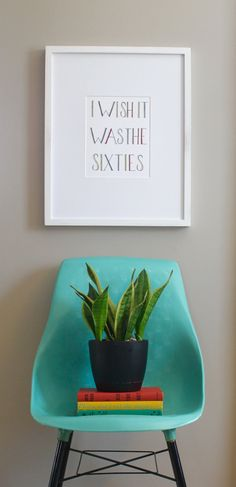 """I Wish It Was The Sixties"" art print by Sarah Getchell, via gatehillprints on Etsy."
