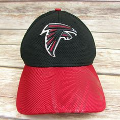 02d64cc6a46 Atlanta Falcons NFL 39Thirty New Era Black Red M L Stretch Fit Hat Baseball  Cap  NewEra