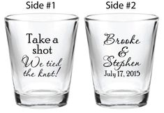 NEW 144 Personalized 1.5oz Wedding Favors Glass Shot by Factory21, $179.53
