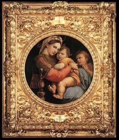 Madonna della Seggiola  Fecha: 1514  Movimiento: Renacimiento  Técnica: Óleo sobre tabla  Museo: Palazzo Pitti  Lugar: Florencia, Italia