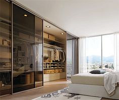 zalf dressing Picà: dressing avec portes vitrées coulissantes.